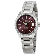 Tag Heuer Carrera Automatic Calibre 9 Burgundy Dial Stainless Steel Ladies