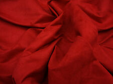 """Suede Micro Upholstery 58"""" Wide Red  Drapery Sofa Chair Fabric by yard"""