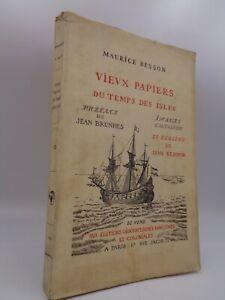 Maurice Besson : Vieux papiers du temps des isles  1925