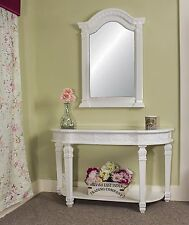 White Table Console Mirror Antique Style Hall Table Mirror Hallway Shabby Chic