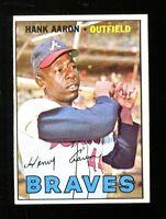 Hank Aaron 1967 Topps #250 Braves Ex/MT+ 34945