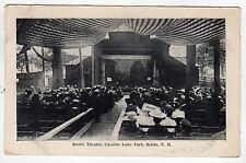 CANOBIE LAKE Amusement Park PC Postcard SALEM NEW HAMPSHIRE Rustic Theatre NH
