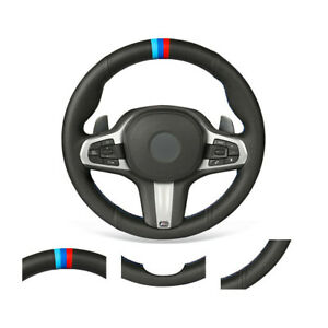 Soft Non-slip Durable Car Steering Wheel Cover Wrap For BMW G20 F44 G22 G26 G30