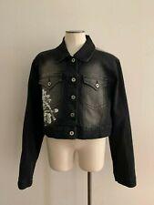NWOT Sequins Crest Jeans Woman Denim Jacket Size 1X Excellent