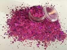 Exclusive Bizzy Nails Cosmetic Grade Glitter Mix Nail Art Orchid Acrylic/Gel
