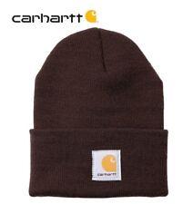 Original CARHARTT A18 Rib-Strick-Gewebe Wintermütze Beanie für Damen Herren 20Fa