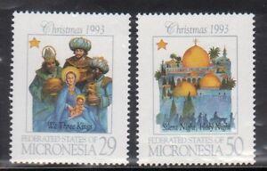 Micronesia 184-5 Christmas Mint NH