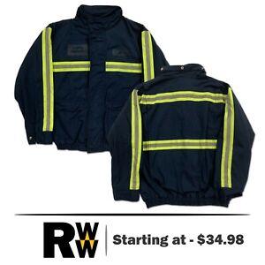 Red Kap Bomber Jacket Enhanced Visibility Reflective Industrial Work Uniform