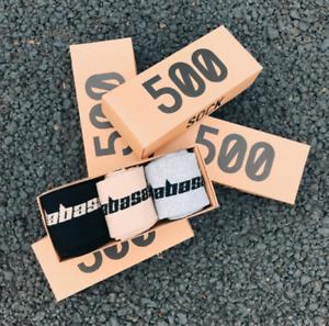 Yeezy boost 500 Season 6 Calabasas Socks from Kanye WEST USA 3 Pair / Box (COD)