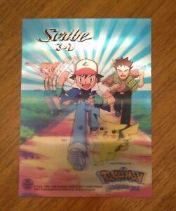 Vintage Nintendo Pokemon Store Display Promo 3D Sign Misty Ash Pikachu Rare Card