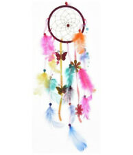 Girls Feathered Bright Multi Coloured Sequin Dream Catcher Butterfly