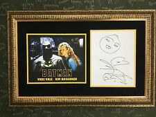 Kim Bassinger Signed Self Portrait Batman  Custom  Framed Display JSA COA