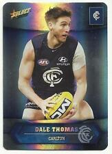 2015 AFL SELECT CHAMPIONS CARLTON DALE THOMAS SILVER PARALLEL SP37 CARD