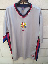 VINTAGE Maillot BARCELONE BARCELONA camiseta NIKE away gris trikot 2000 XL shirt