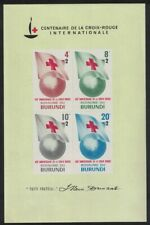 Burundi Centenary of Red Cross MS 1963 Def SG#MS60a CV£9.25