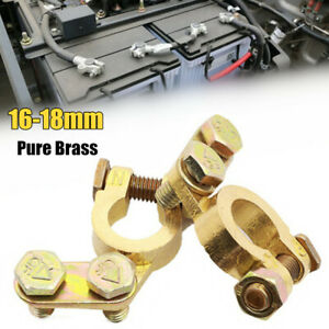 16-18mm Pure Brass Car Battery Terminal Disconnect Positive Negative Switch Link