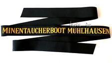 Deutsche Marine BW Uniform - Mützenband Minentaucherboot Mühlhausen German Navy
