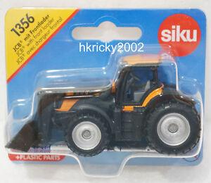 Siku Super 1356 JCB Fastrac Agricultural Tractor with Front Loader Shovel Model