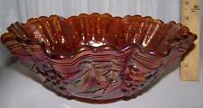 Imperial Glass Grapes Marigold Lg Bowl Carnival Glass