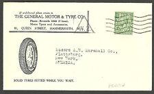 1/2d George V perfined Gm cubierta de publicidad general Motor & neumático Co Hammersmith