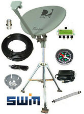 DirecTV SWM SL3S HD Portable Satellite RV Dish Kit Camping Tailgating w Tripod