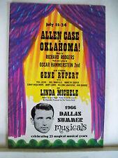 OKLAHOMA Playbill ALLEN CASE / LINDA MICHELE / GENE RUPERT Dallas, TX 1966