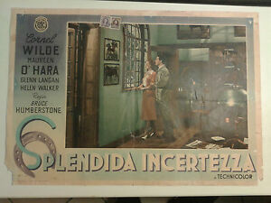 FOTOBUSTA CINEMA SPLENDIDA INCERTEZZA ENIC 1949 CORNEL WILDE MAUREEN O' HARA