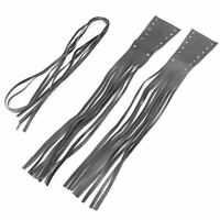 New Black Leather Tassels for Universal Harley Grip Cover Brake Lever Cover tu