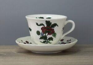 Wedgwood Mandarin Kaffeetasse mit Untertasse/Unterteller Tasse Höhe ca. 7 cm