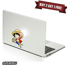 Macbook Air Pro Skin Sticker Decal One Piece Anime Luffy Chibi Cute bn420