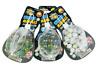 BAG OF 25PC MARBLES - 3256 VINTAGE TRADITION GAMES TIC TAC TOE ACROBATISM GLASS