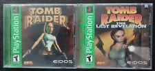 Lot Of 2 Tomb Raider  & The Last Revelation Sony PlayStation 1