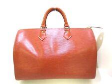 Auth LOUIS VUITTON Speedy 35 M42993 Kenyan Brown Epi V.I.8910 Handbag