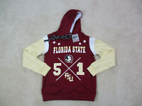 NEW Florida State Seminoles Sweater Adult Small Red Gold FSU Hoodie Mens