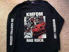 VINTAGE KMFDM HAU RUCK L/S TOUR CONCERT SHIRT rock ministry skinny puppy nin vtg