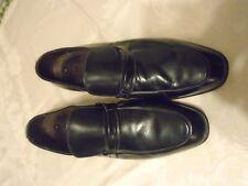 FRENCH SHRINER Men's Black Leather Slip-On  Loafers -  10 D