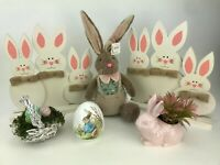 6 PC Lot of Easter Rabbits Spring Decor Set Assortment Pier 1 Homegoods