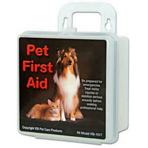 Pet First Aid hard Shell Kit VSI 1017 30 Most used Emergency Items Dogs & Cats