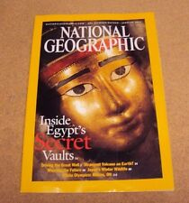 National Geographic January  2003 Great Wall China Volcano Textiles Egypt Japan