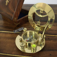 Christmas Nautical Survey Compass With Sundial Graph Sundiel Compass Hiking/T