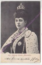CPA  MAJESTY QUEEN ALEXANDRA Pailettes ca1902