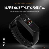 M4 Smart Watch Sports Wrist Band Heart Rate Fitness Tracker Bracelet B6C0
