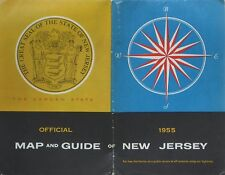 1955 NEW JERSEY Official Highway Road Map Atlas Garden State Parkway Turnpike