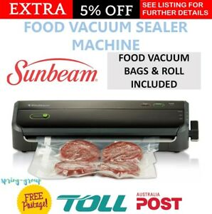 SUNBEAM Food Saver Vacuum Sealer Bags Foodsaver Roll Storage Marinator Adapter