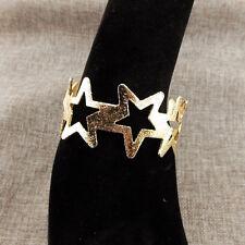Braccialetto a forma di Stella-Metallo Smerigliato-Colore d'Oro-DIAMETRO 6cm !!