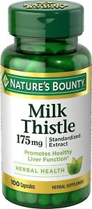 Nature's Bounty Milk Thistle Capsules, 175 mg, 100 Count