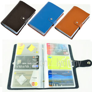2019 New Leather Business Name ID Credit Card Holder Wallet Office Organiser