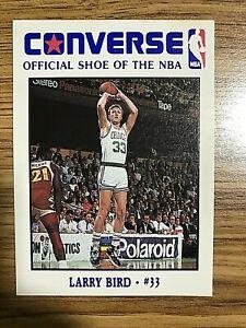 1989 Converse Basketball Card Larry Bird