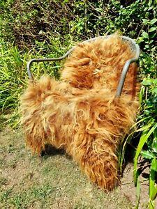XXXL Icelandic Natural Ginger Sheepskin Rug - 115cm by 85cm A++ (2887)