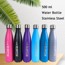 500ml Stainless Steel Water Bottle Double Walled Vacuum Insulated Flask Sport